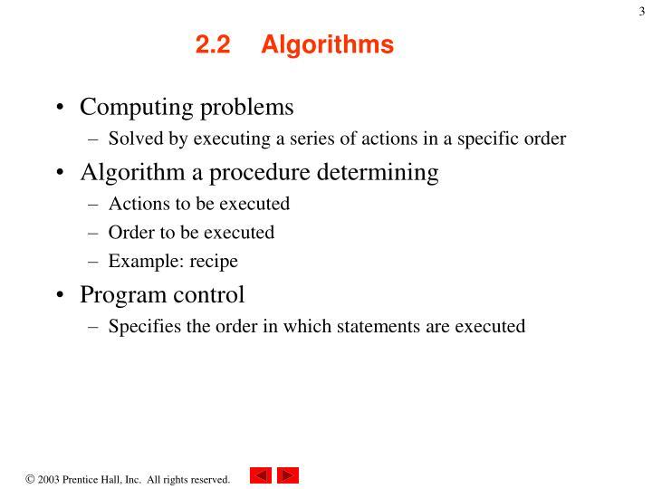2 2 algorithms