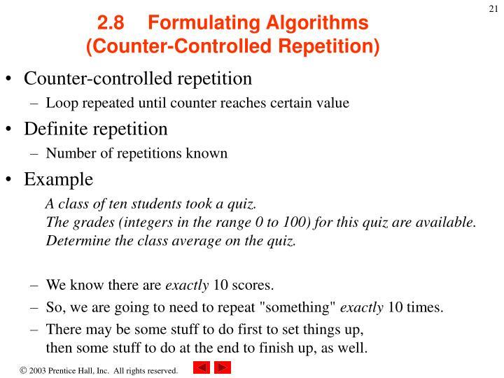 2.8Formulating Algorithms