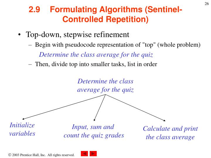 Determine the class average for the quiz