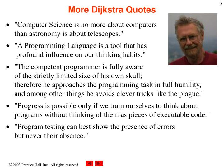 More Dijkstra Quotes