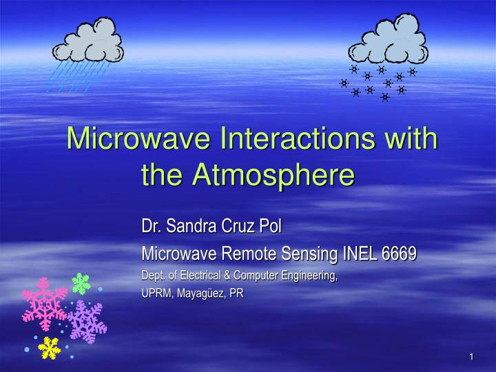 microwave interactions with the atmosphere n.