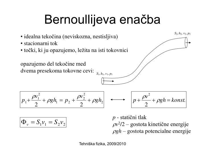 Bernoullijeva enačba
