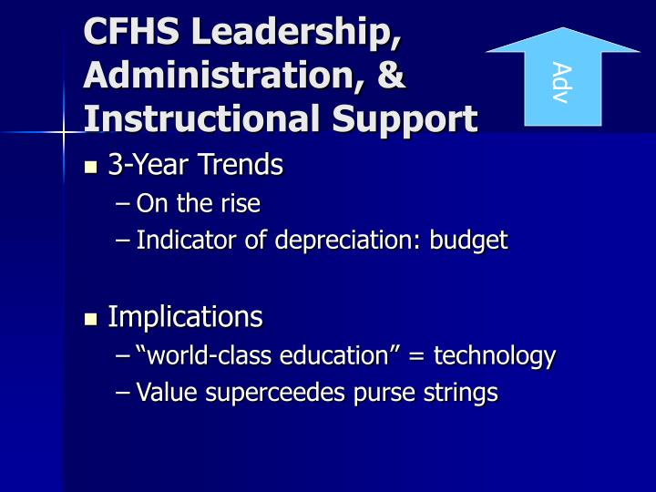 CFHS Leadership, Administration, & Instructional Support