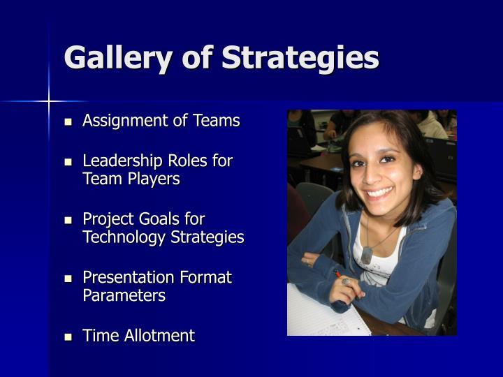 Gallery of Strategies