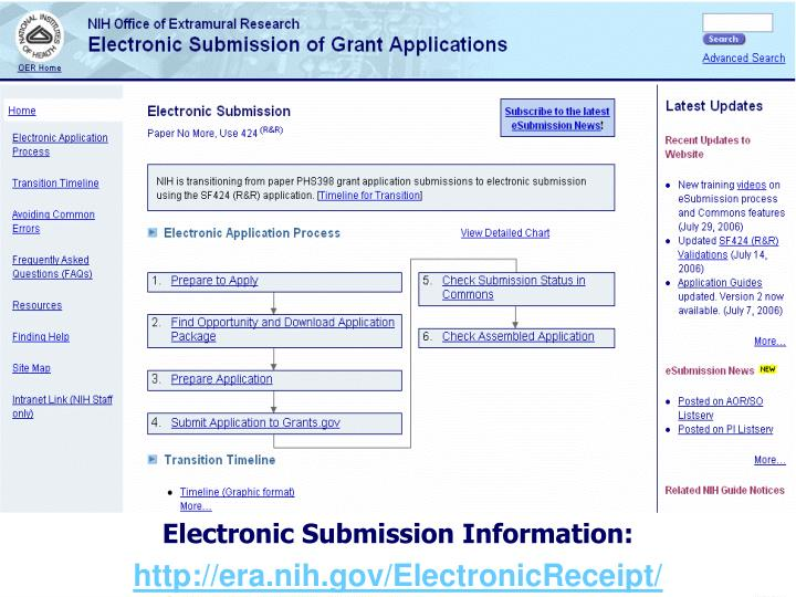 Electronic Submission Information: