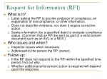 request for information rfi