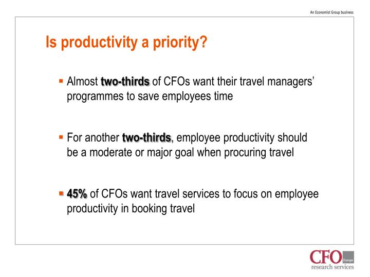 Is productivity a priority?