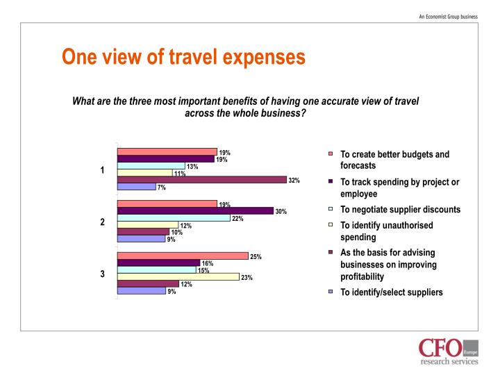 One view of travel expenses