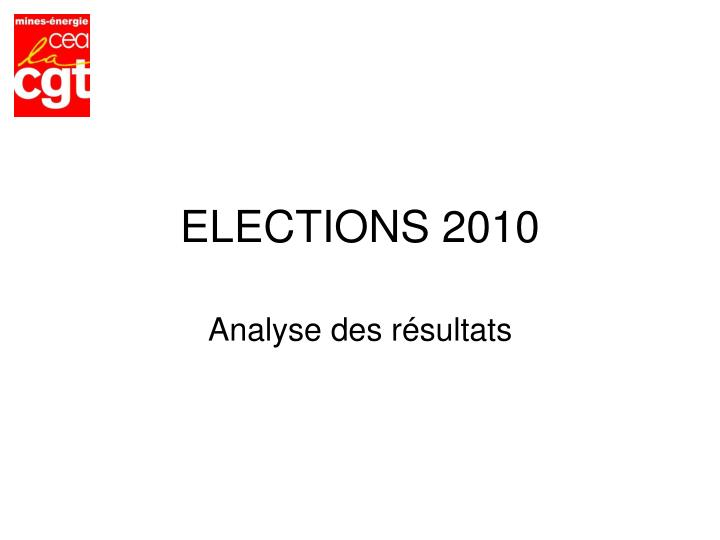 Elections 2010