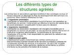 les diff rents types de structures agr es