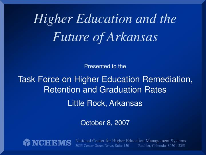 higher education and the future of arkansas n.