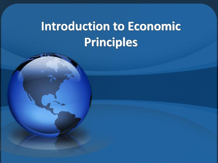 introduction to economic principles n.
