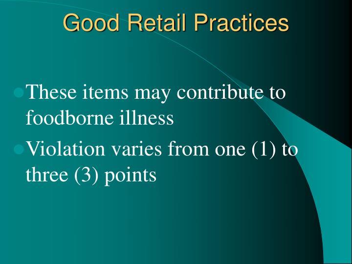 Good Retail Practices