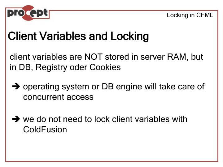 Locking in CFML