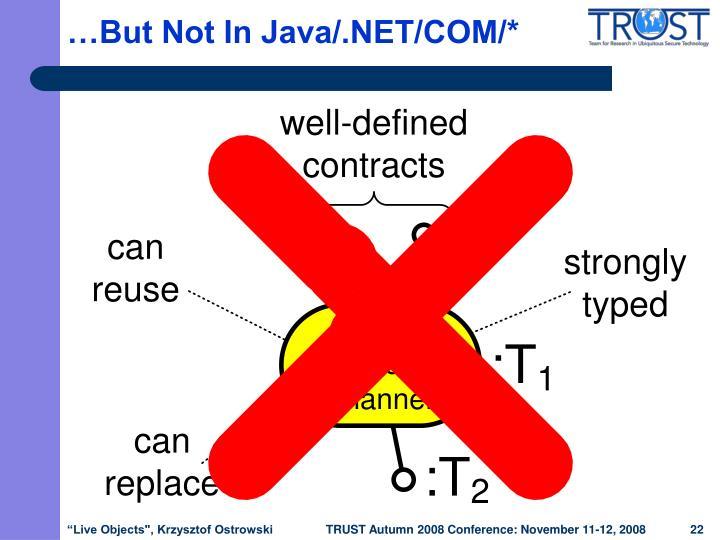 …But Not In Java/.NET/COM/*