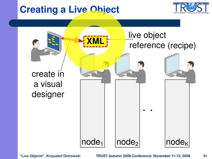 Creating a Live Object