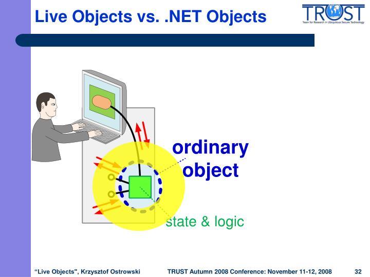 Live Objects vs. .NET Objects