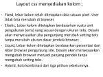 layout css menyediakan kolom