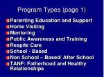 program types page 1
