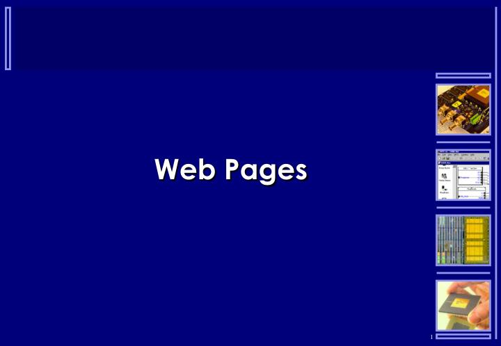 web pages n.