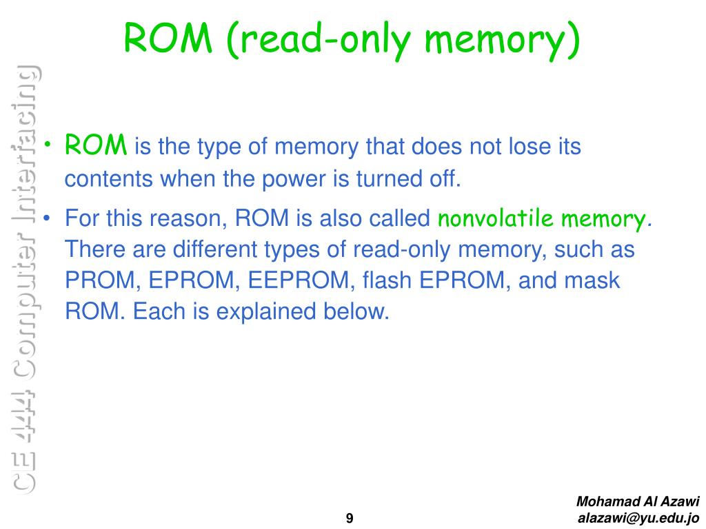 PPT - Memory and Memory Interfacing PowerPoint Presentation - ID:3981567