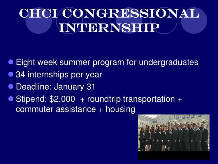 CHCI Congressional Internship