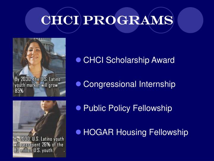 CHCI Programs