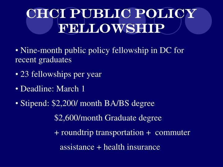 CHCI Public Policy Fellowship
