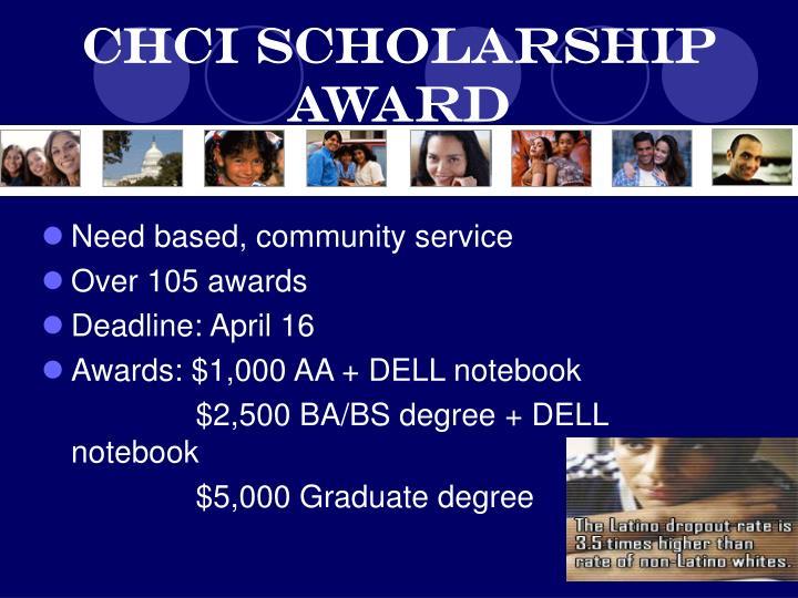 CHCI Scholarship Award