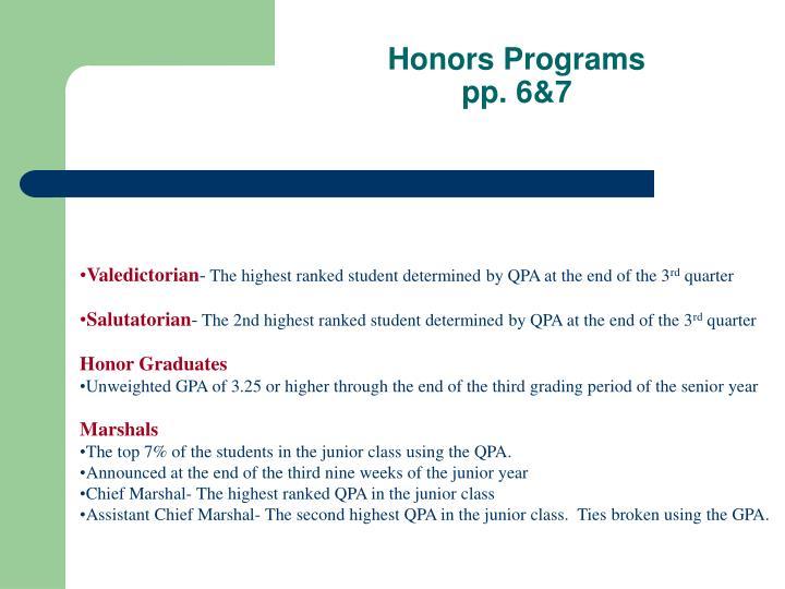 Honors Programs