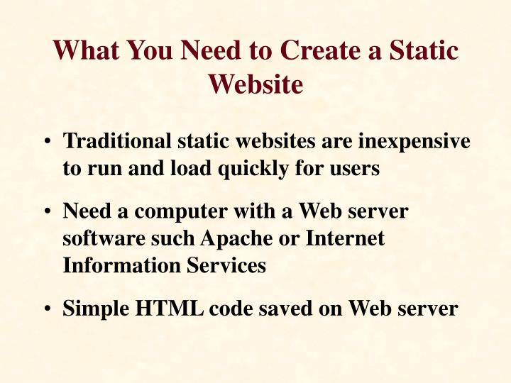 What You Need to Create a Static Website