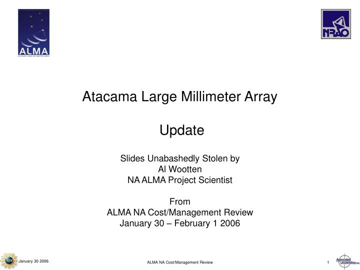 Atacama large millimeter array update