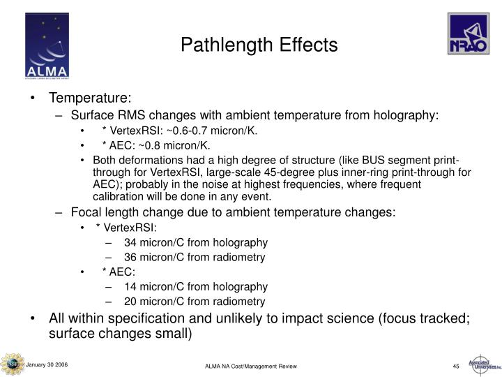 Pathlength Effects