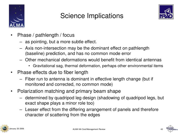 Science Implications