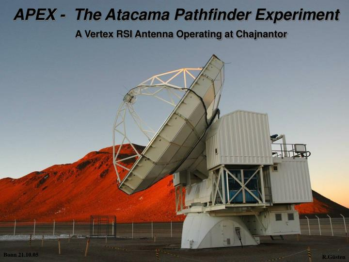 APEX -  The Atacama Pathfinder Experiment