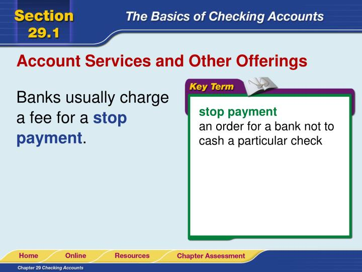 Account Services and Other Offerings