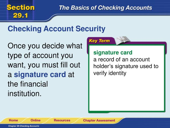 Checking Account Security