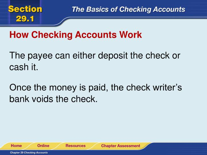How Checking Accounts Work