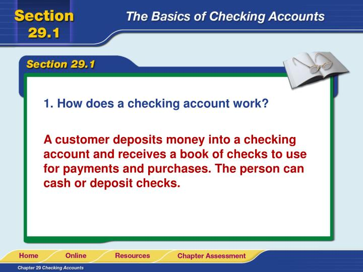 How does a checking account work?