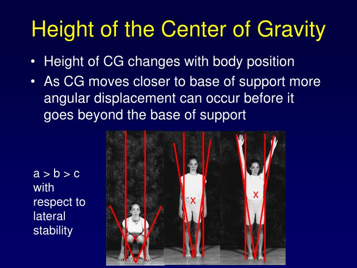 Height of the Center of Gravity