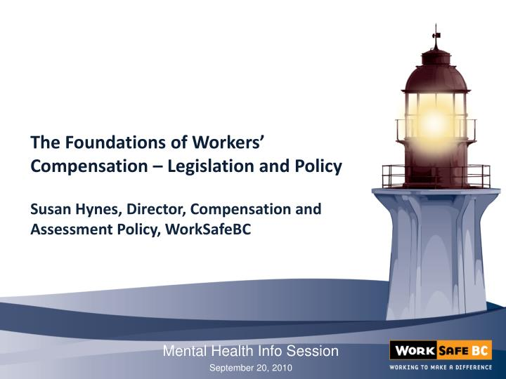 the foundations of workers compensation legislation and policy n.