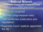 judicial branch supreme court and lower courts