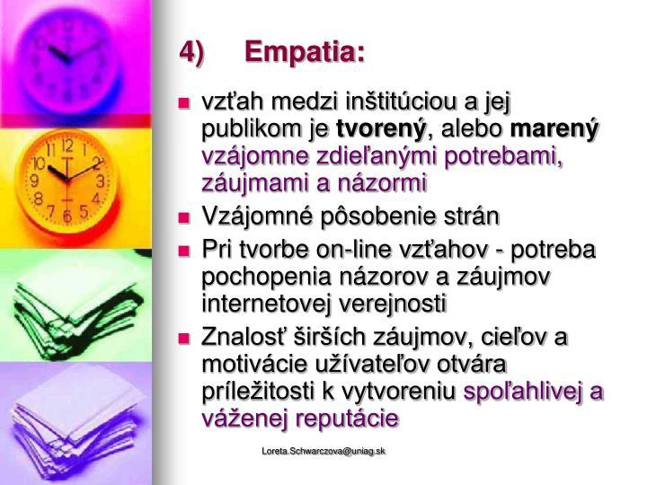 4)Empatia: