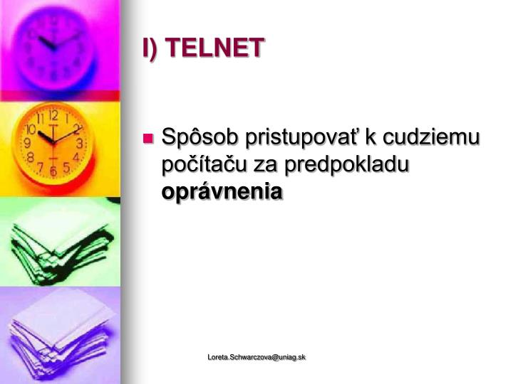 I) TELNET