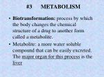 3 metabolism