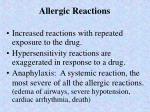 allergic reactions