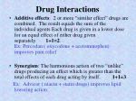 drug interactions1