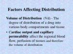 factors affecting distribution