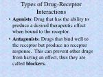 types of drug receptor interactions