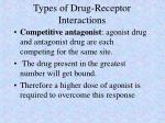 types of drug receptor interactions1